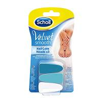 Scholl 3 ricambi Velvet smooth nail care heads unghie